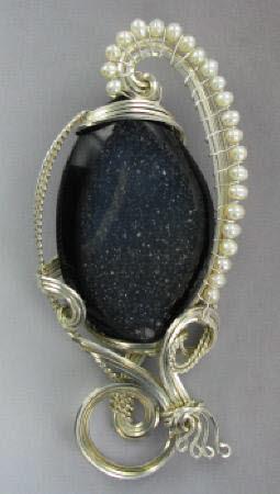 drusy gemstone pendant