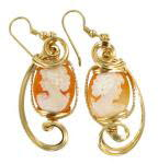 Jewelry Class: Cameo Earrings with Handcrafted French Hooks
