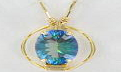Prong Pendant -  Oval Faceted Gemstone