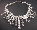 Bridal Pearl Bow Dangle Necklace - Jewelry Pattern