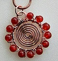 Beaded Spiral Pendant Jewelry Pattern