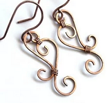 How to Make Wire Sculpted Earrings with a Swirl