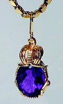FACETED GEMSTONE PENDANT SETTING - NO PRONGS