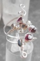 Winding Gemstone Ring