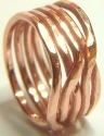 STACKING COPPER 5 STRAND RING