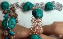 CRAZY TURQUOISE NUGGET WIRE BRACELET