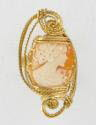 Wire Sculpted Italian Shell Cameo Ring