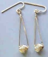 Bead Earrings made with Gold Filled Beads by Master Wire Sculptor Preston Reuther