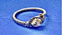 Make a wire wrapped ring with a bead