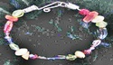 Make a memory wire bracelet with glass beads